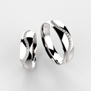 00001 snubní prsteny MAGALIE bílé