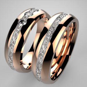 Luxusní zlaté snubní prsteny