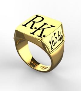Pánský prsten Monika žlutý