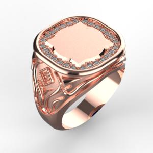 Pánský prsten Monika 0002 růžový