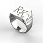 Pánský prsten Monika bílý