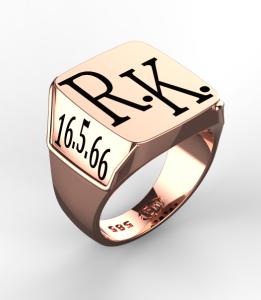 Pánský prsten Monika růžový