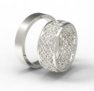 Snubní prsteny Monika 0001bílé