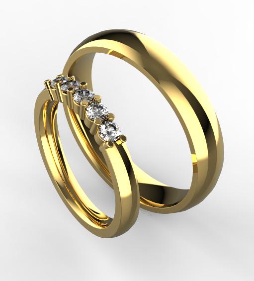 Zlate Snubni Prsteny 054 Vyroba Sperku