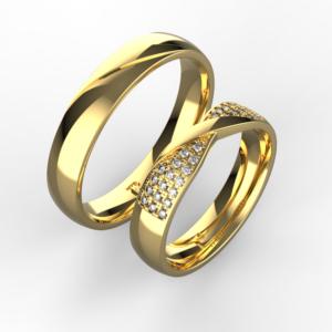 Snubní prsteny Monika 0004 žluté