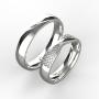 Snubní prsteny Monika 0004 bílé