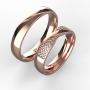 Snubní prsteny Monika 0004 růžové