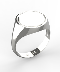 0002 Pánský prsten základ 16 mm bílý