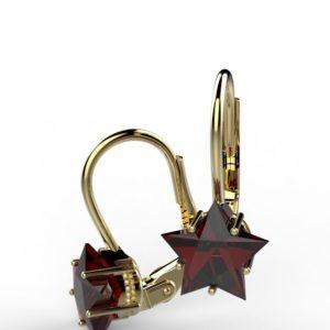Náušnice Hvězda rubín