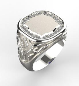 Pánský prsten Monika 0002 bílý