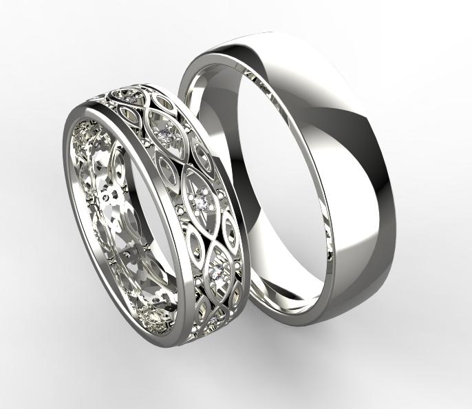 Stribrne Snubni Prsteny 063 Vyroba Sperku