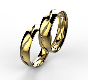 00003 snubní prsteny Dariana 8 x kam 1 mm žluté