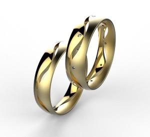 00003 snubní prsteny Dariana 8 x kam 1 mm žluté mat