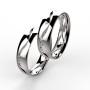 00003 snubní prsteny Dariana 8 x kam 1 mm bílé