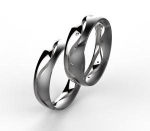 00003 snubní prsteny Dariana 8 x kam 1 mm bílé mat