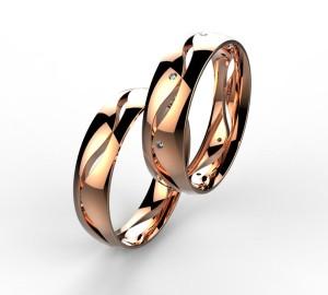 00003 snubní prsteny Dariana 8 x kam 1 mm růžové